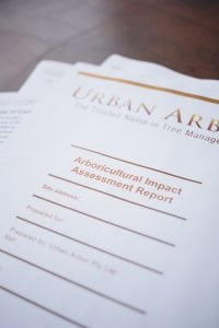 Types of Arborist Reports used for Council DA
